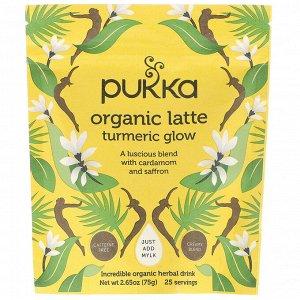 Pukka Herbs, Органическое латте с куркумой, без кофеина, 75 г (2,65 унции)