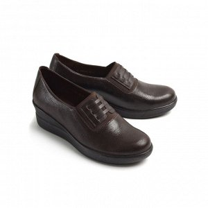 Туфли летние женские, коричневый нубук