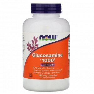 Глюкозамин Now Foods, Глюкозамин 1000, 180 капсул. Глюкозамин является важным строительным компонентом для формирования гликозаминогликанов (ГАГ) и протеогликанов — основных компонентов хрящевой ткани