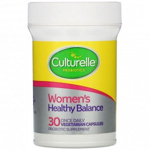 Culturelle, Probiotics, Women&#x27 - s Healthy Balance, 30 Once Daily Vegetarian Capsules