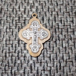 Крестик декорированный оливковым деревом