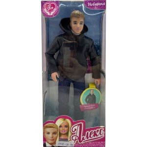 66683-SA-BB (24) Кукла 29см Алекс в зимней одежде, руки и ноги сгибаются София и Алекс