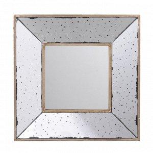 Зеркало настенное Herrick состаренное 33*33*10см