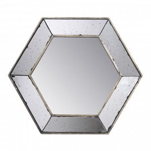 Зеркало настенное Herrick шестиугольное состаренное 47,5*54,5*10,5см