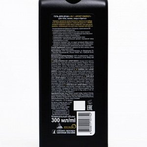 Гель для душа Viking  4в1 Sport Energy для тела, волос, лица, бритья, 300 мл