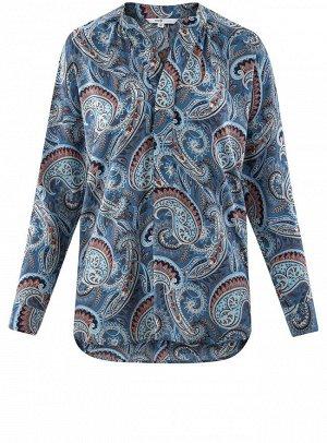 Блузка удлиненная с этническим орнаментом