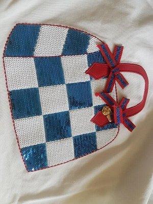 T-shirt футболка стрейч новая, цвет молочный, размер на 44 российский  Рисунок выполнен - пайетками, очень красиво смотрится