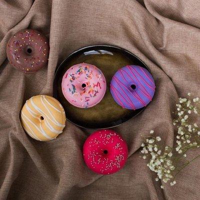 Уральская мануфактура - натуральная косметика.  — бурлящий шар - гейзер, в виде пончика Pretty Garden — Пены и соли для ванны