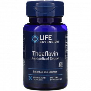 Life Extension, Theaflavin Standardized Extract, 30 Vegetarian Capsules