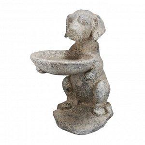 Декор Собака 29.9*46.4*48.9см магнезит