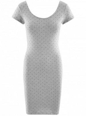 Платье облегающего силуэта с глубоким вырезом на спине