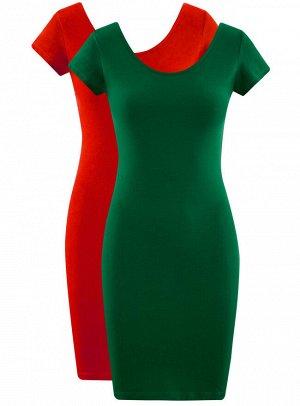 Платье облегающего силуэта (комплект из 2 пар)