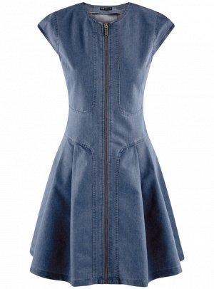 Платье джинсовое на молнии