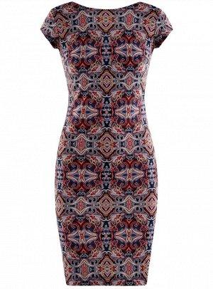 Платье облегающего силуэта с вырезом на спине