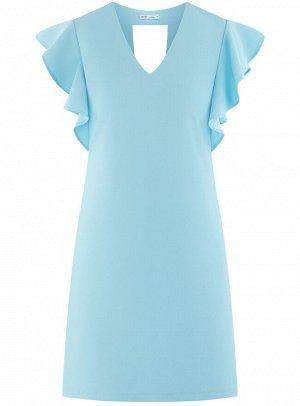 Платье трикотажное с рукавами-крылышками