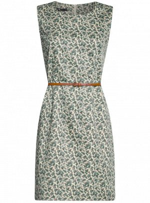 Платье приталенное базовое с ремнем