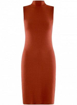 Платье миди трикотажное