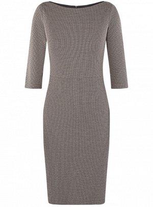 Платье приталенное с вырезом-лодочкой