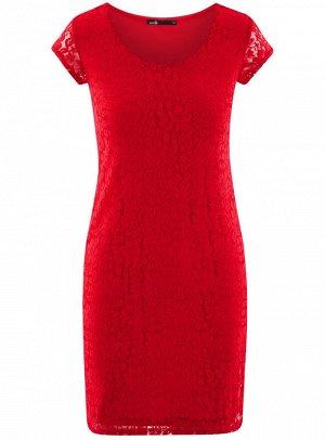 Платье приталенное кружевное