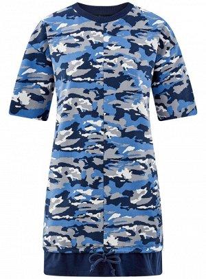 Платье принтованное в стиле oversize