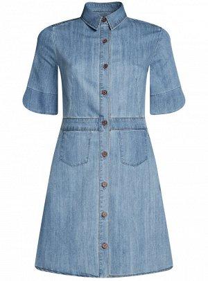 Платье джинсовое на пуговицах