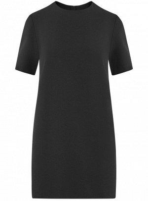 Платье из плотной ткани с молнией на спине