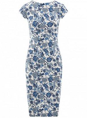 Платье-миди с вырезом на спине