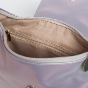 Сумка женская, отдел на молнии, регулируемый ремень, 3 наружных кармана, цвет хамелеон