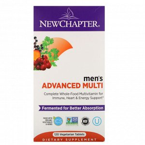 New Chapter, Men&#x27 - s Advanced Multi, 120 Vegetarian Tablets