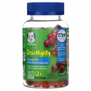 Gerber, Grow Mighty, мультивитаминный комплекс, для детей от 2лет, 60жевательных мармеладок