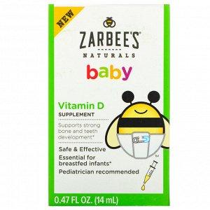 Zarbee&#x27 - s, Витамин D для малышей, 14 мл (0,47 жидк. унции)