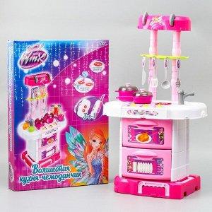 """Игровой модуль """"Волшебная кухня-чемоданчик"""" феи ВИНКС, 18 предметов + наклейки"""