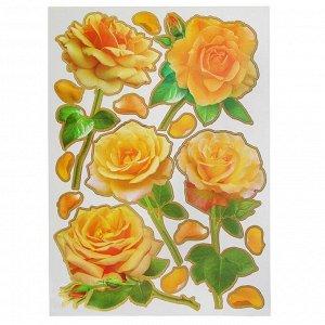 "Наклейки ""Желтые розы"" 36 х 50 см"