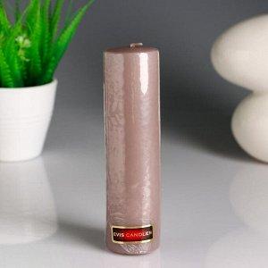 Свеча- цилиндр, парафиновая, дымка, 4?15 см