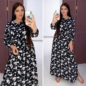 Платье Платье из софта , боковые карманы в шве, длина 135 см