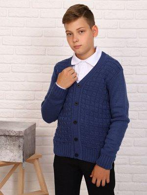 Джемпер Характеристики: Состав- акрил; Материал: вязаный трикотаж Удобный джемпер на мальчика для школы. Застежка на пуговицах. Хорошо сочетается с рубашкой и брюками.