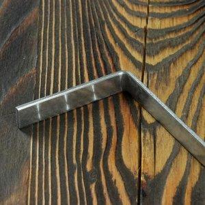 Кочерга узбекская с деревянной ручкой, с узором, 70*1,6см, сталь 3мм