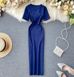 Трикотажное платье, синий