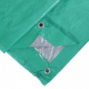 Тент защитный, 3 ? 2 м, плотность 90 г/м?, люверсы шаг 1 м, тарпаулин, УФ, зелёный