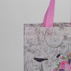 Сумка хозяйственная, отдел без молнии, цвет серый/розовый