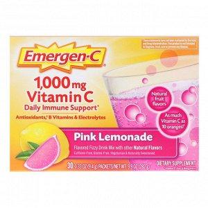 Emergen-C, 1,000 мг витамина C для ежедневного поддержания иммунитета, «розовый лимонад», 30 пакетиков по 0,33 унции (9,4 г)