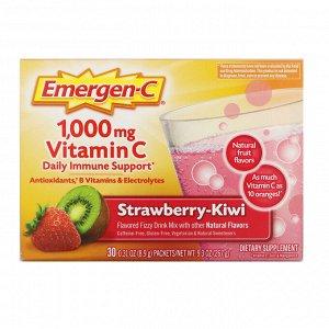 Emergen-C, Vitamin C, Strawberry-Kiwi, 1,000 mg, 30 Packets, 0.31 oz (8.9 g) Each