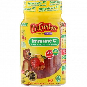L&#x27 - il Critters, Immune C плюс цинк и витамин D, 60 жевательных таблеток