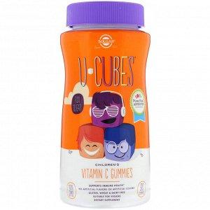 Solgar, U-Cubes, витамин С для детей, со вкусом апельсина и клубники, 90 жевательных конфет