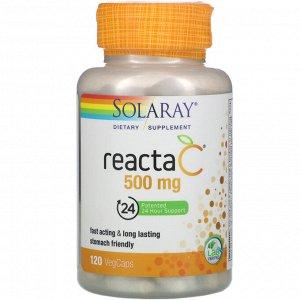 Solaray, Reacta-C, 500 mg, 120 VegCaps