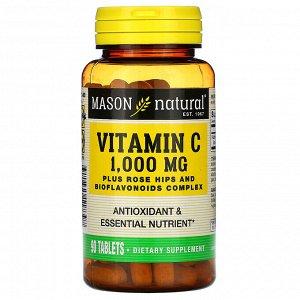 Mason Natural, Витамин C, 1000 мг, 90 таблеток