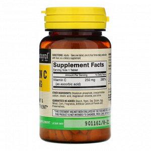 Mason Natural, Витамин C, 250 мг, 100 таблеток