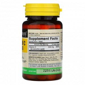 Mason Natural, Витамин C, 500 мг, 100 таблеток