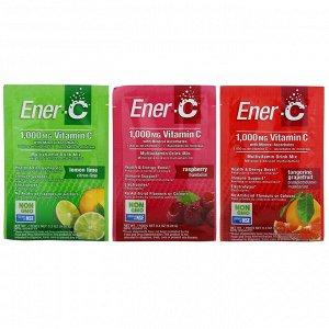 Ener-C, Витамин C, смесь для приготовления мультивитаминного напитка, ассорти, 30 пакетиков, 282,9 г (9,9 унции) в каждом