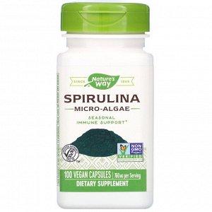 Nature&#x27 - s Way, Spirulina Micro-Algae, 760 mg, 100 Vegan Capsules